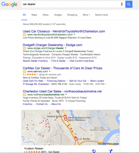 SERP Without Side Bar Ads